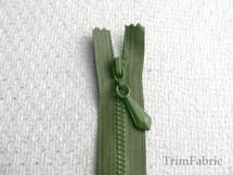 "14"" Olive Separating Zipper #-ZP-719"