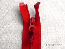 """17"""" Red Separating Zipper #-ZP-724"""