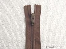 """7"""" Medium Brown Zipper #ZP-8"""