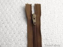 """7"""" Chestnut Zipper #ZP-9"""