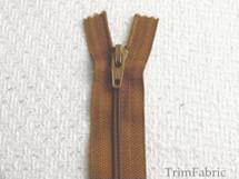 """8"""" Gold Brown Zipper #ZP-10"""
