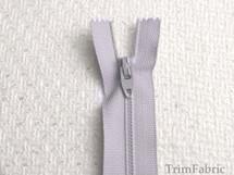 """7"""" Gray Blue Zipper #ZP-16"""