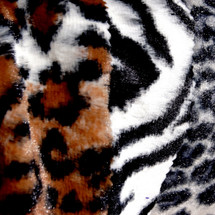 Safari Faux Fur Animal Print Minky Fabric Wholesale