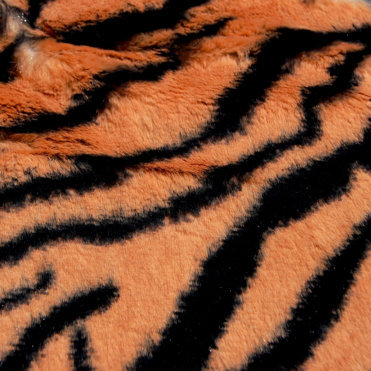 Tiger animal faux fur minky fabric wholesale for Wholesale fabric