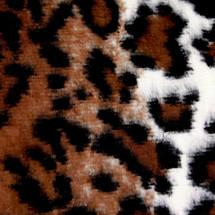 Striped Leopard Animal Print Faux Fur Minky Fabric