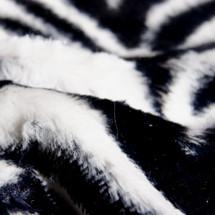 Zebra Animal Print Faux Fur Minky Fabric