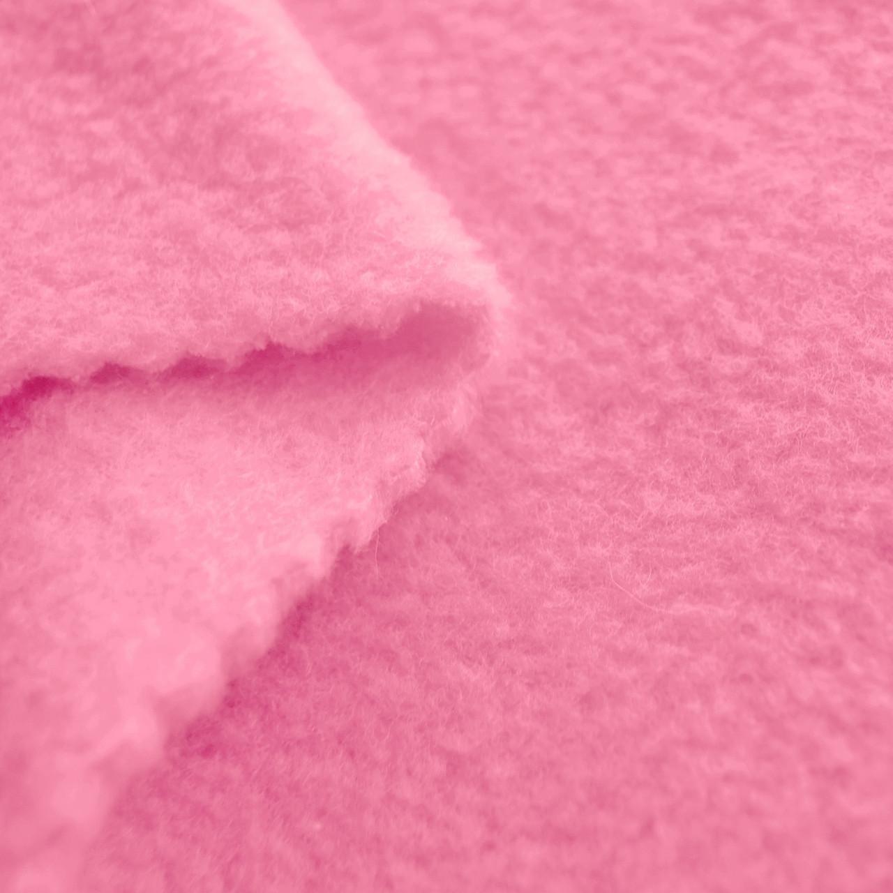 Flamingo pink anti pill yukon fleece fabric for Fleece fabric