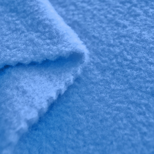 French blue anti pill yukon fleece fabric for Spaceship fleece fabric