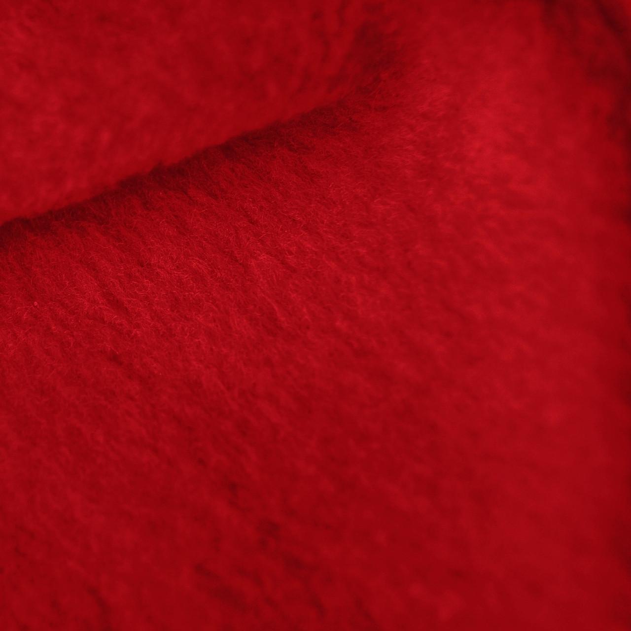Crimson red anti pill yukon fleece fabric for Fleece fabric