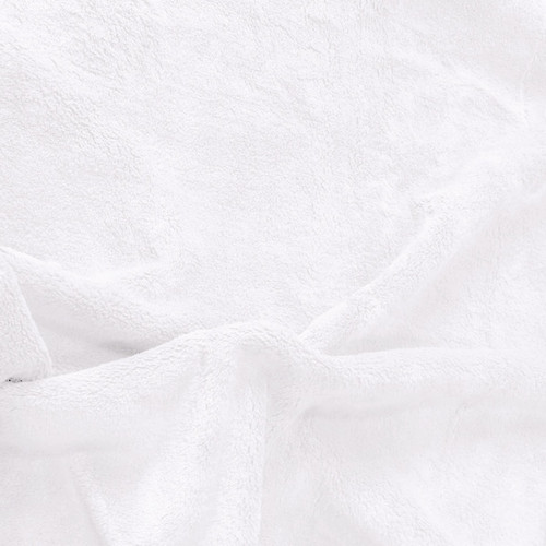 Solid White Minky Fabric