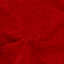 Solid Red Minky Fabric