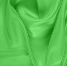 "Neon Green China Silk Lining - 60"" wide polyester lining fabric"