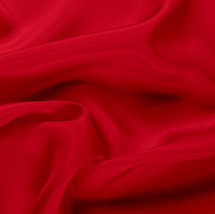 "Red China Silk Lining - 60"" wide polyester lining fabric"