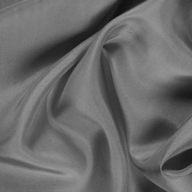 "Charcoal China Silk Lining - 60"" wide polyester lining fabric"