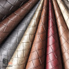 TILE BASKETWEAVE LEATHER UPHOLSTERY FABRIC