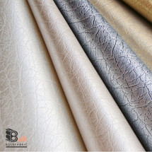 FAUX LEATHER UPHOLSTERY TEXTURED VINYL FABRIC