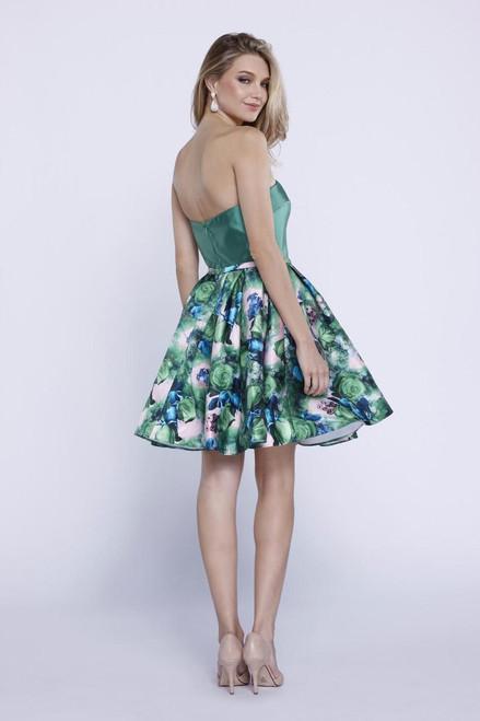 Floral Print Cocktail Dress 6276