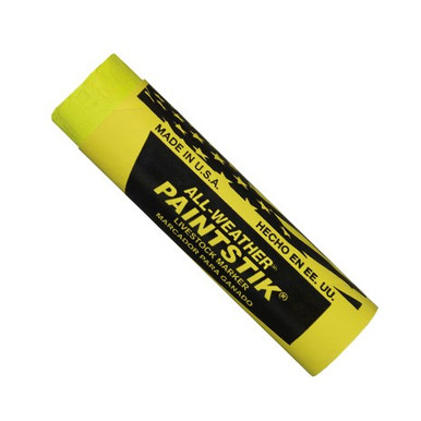 Markal ALL-WEATHER Paintstik Livestock Marker - Fluorescent Yellow 61011