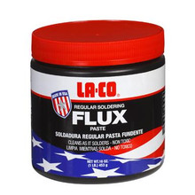 LA-CO REGULAR FLUX PASTE- 4 oz. with brush in cap (22194)