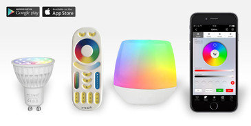 1 Easybulb GU10 RGBW Spotlight Bundle Wifi Box and Remote Control
