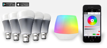 5 Easybulb PLUS RGBW 9W Light Bulb + Wifi Controller