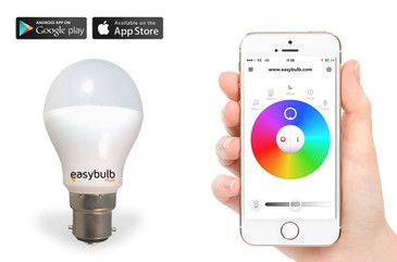 Easybulb Plus Round RGBW 6W Light Bulb - Colour Changing Energy Saving