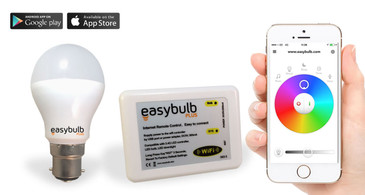 1 x Easybulb Plus Round RGBW 6W Light Bulb + Wifi Box Controller