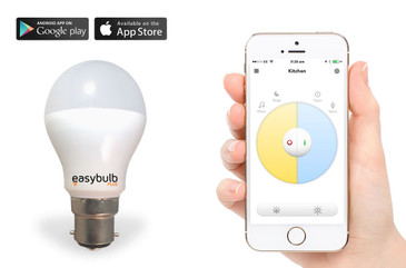 Easybulb Plus Round Dual WHITE 6W LED Light Bulb Energy Saving