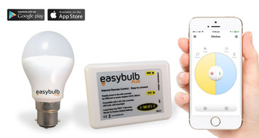 1 x Easybulb Plus Round Dual WHITE 6W Light Bulb + Wifi Box