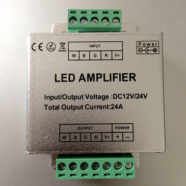 Power Amplifier Extender For RGBW And RGB LED Strip Lights