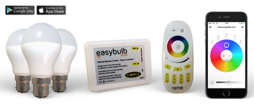 3 Easybulb RGB - 1 Wifi Box - 1 RGB Remote + 2 Years Warranty