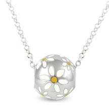 Daisies - Naturally pretty (cute size) - sterling silver bead pendant