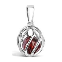 Celebrate a January birthday with a Garnet birthstone necklace!  Twist version (66550)