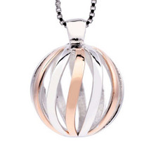 Journey - With You All The Way - sterling silver pendant (Rose Gold)