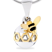 Busy Bee - Save Time For Me - sterling silver pendant