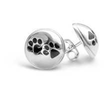 Paws -  Silver Stud Earrings