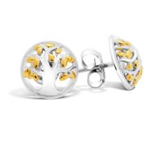 Family Tree (Yellow Gold) Stud Earrings