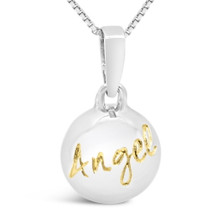 Angel -- My Love, My Life, sterling silver pendant (cute)