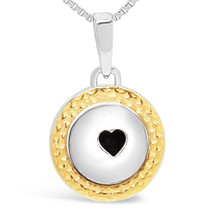 We are better together - sterling silver pendant (yellow gold plating)