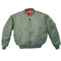 GREEN Mens MA-1 Bomber Flight Jacket