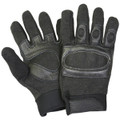 Tactical Hard Knuckle Assault SWAT Gloves BLACK