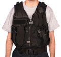 Military Style Mach-1 AR Tactical Mesh Assault Vest w Belt - SWAT BLACK