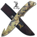 Elk Ridge Camo Skinning Knife - Wilderness Camo