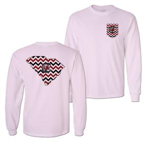 South Carolina Gamecocks Chevron LS T-shirt