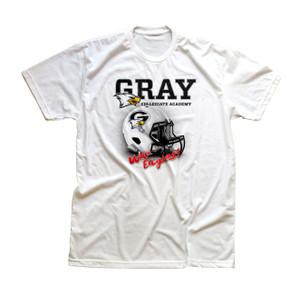 Gray Academy Helmet T-shirt