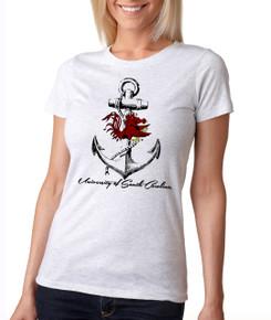 South Carolina Gamecock Anchor Ladies T-shirt