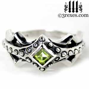 fairy-princess-engagement-ring-green-peridot-stone-sterling-silver-friendship-band-august-birthstone-jewelry