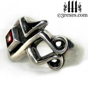 mens-bohemian-garnet-january-birthstone-stone-z-ring-celtic-silver-band-3-rexes-jewelry