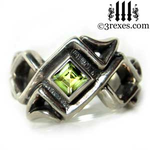 mens-bohemian-green-peridot-august-stone-z-ring-garnet-celtic-silver-band-3-rexes-jewelry