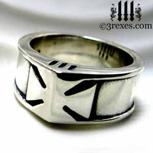 mens-silver-iron-ring-knights-templar-band-maltese-historic-rings